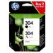 HP 3JB05AE#301 (304) Printhead multi pack, 100 pg + 120 pg, Pack qty 2
