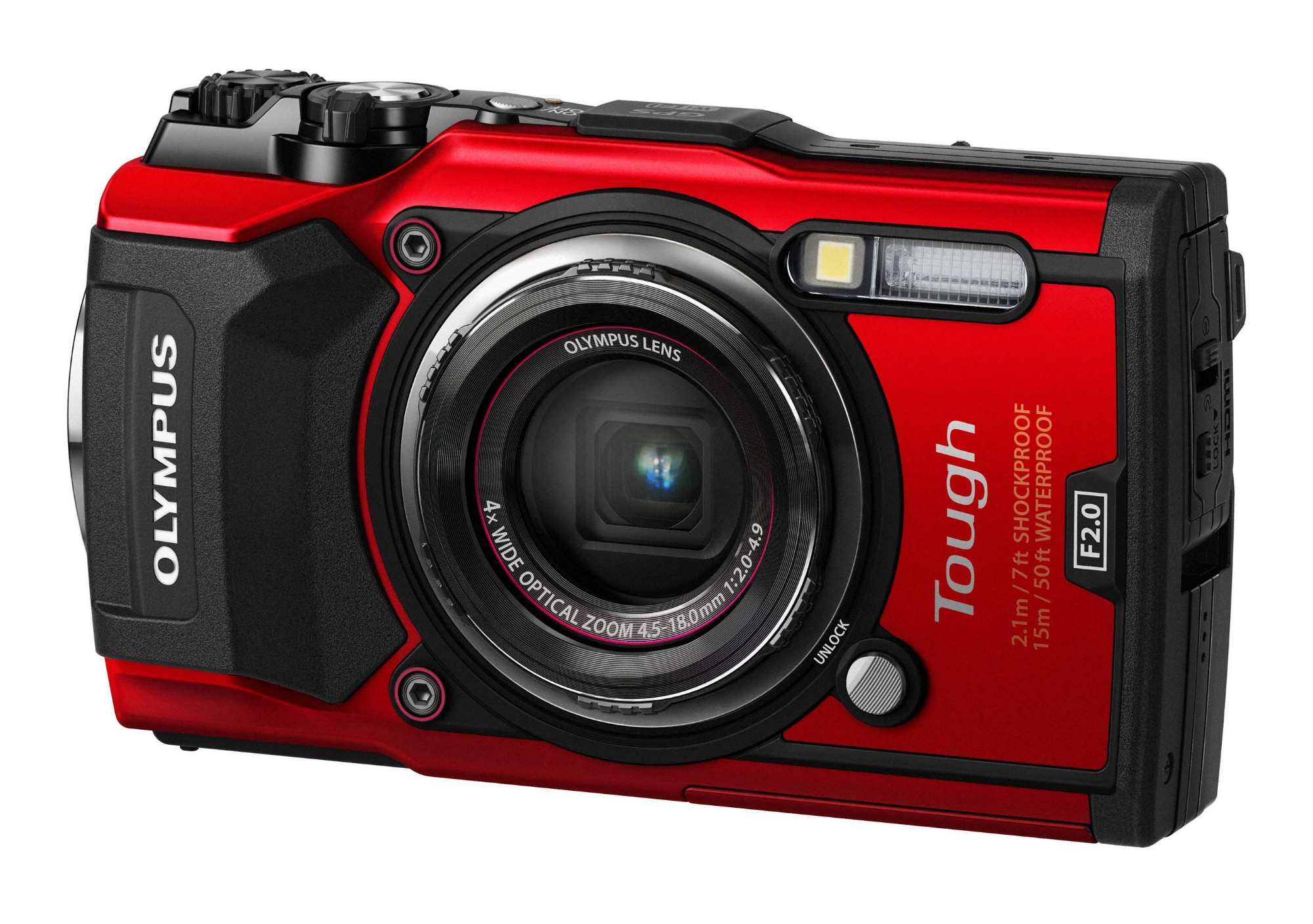 """Olympus TG‑5 Compact camera 12MP 1/2.33"""" CMOS 4000 x 3000pixels Red"""