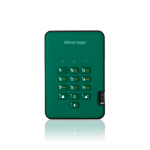iStorage diskAshur2 256-bit 256GB USB 3.1 secure encrypted solid-state drive - Green IS-DA2-256-SSD-256-GN
