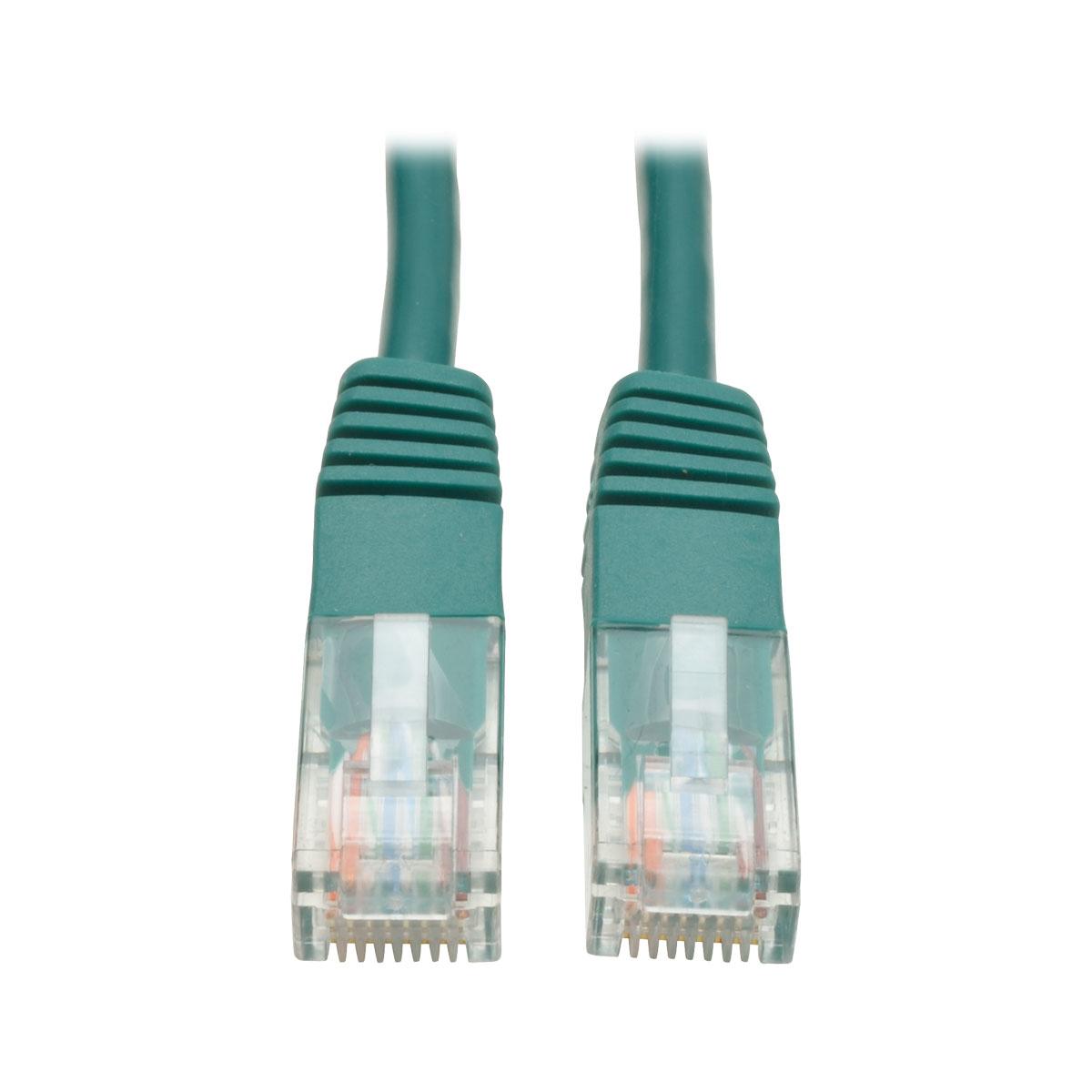 Tripp Lite Cat5e 350MHz Molded Patch Cable (RJ45 M/M) - Green, 10-ft.
