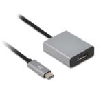 V7 USB-C male to HDMI female Adapter Grey Aluminum