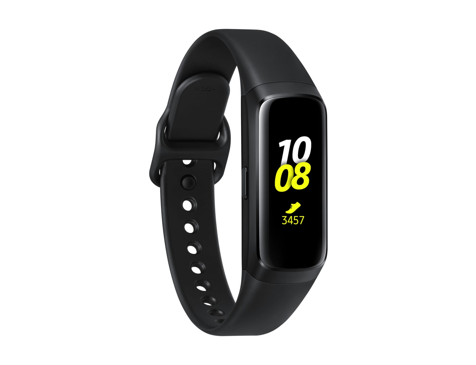 Samsung Galaxy Fit - Black - activity tracker with strap - fluoroelastomer - black - band size 132-1
