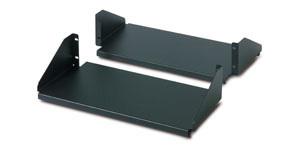 Netshelter Double Sided Fixed Shelf For 2 Post Rack 250 Lbs Black