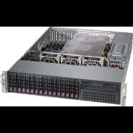 Supermicro SuperChassis 213AC-R1K23LPB Rack Black 1200 W