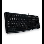 Logitech K120 keyboard USB Hebrew Black