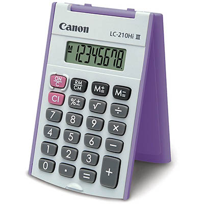 CANON LC210L CALCULATOR 8 DIGIT X LARGE DISPLAY HARD COVER
