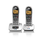 British Telecom BT 4000 Twin DECT telephone Beige, Silver