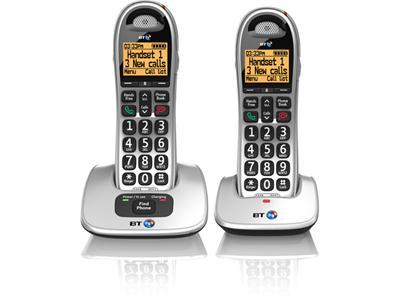 British Telecom BT 4000 Twin DECT telephone Beige, Silver