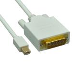 Unirise MDPDVI-10F-MM 3m Mini DisplayPort DVI-D White video cable adapter