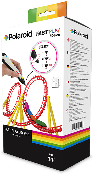 Polaroid Fast Play 3D pen Black, White