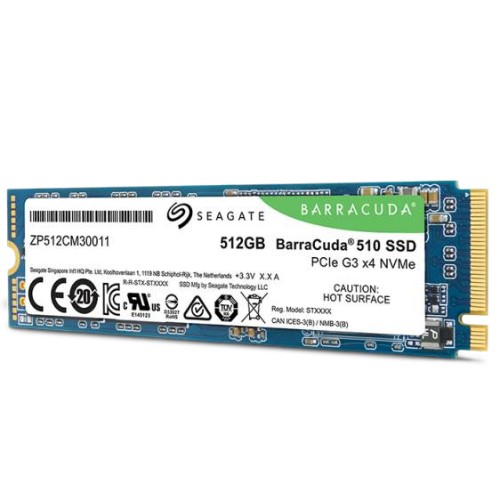 Seagate BarraCuda 510 internal solid state drive M.2 512 GB PCI Express 3.0 3D TLC NVMe