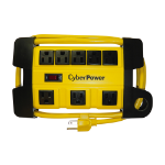 "CyberPower DS806MYL power extension Outdoor 71.7"" (1.82 m) 8 AC outlet(s) Yellow"