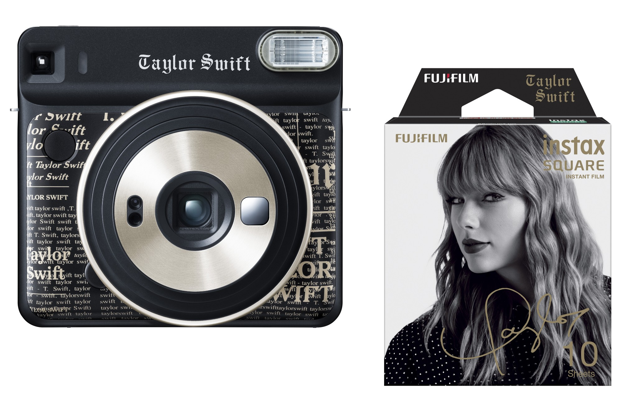 Fujifilm Instax Square SQ6 Instant Camera Taylor Swift Edition + 10 Shots