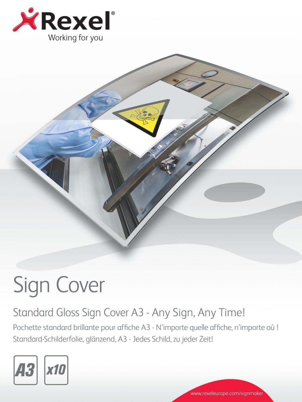 Rexel Standard Gloss Sign Covers A3 (10)
