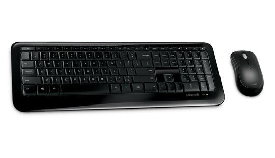 Microsoft 850 keyboard RF Wireless QWERTY UK English Black