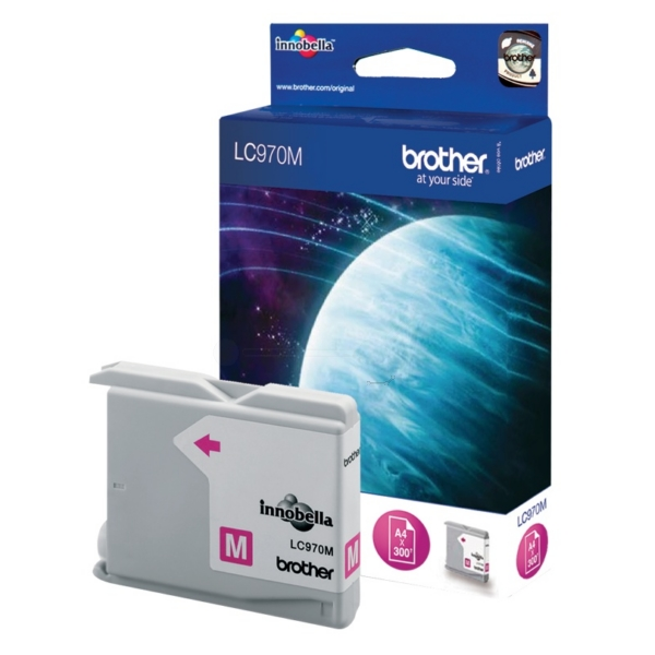 Brother LC-970M Ink cartridge magenta, 300 pages, 11ml LC970M
