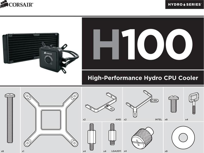 Corsair Universal Bracket for Hydro Series H60/H80/H100 Processor Liquid Cooling