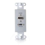 C2G RapidRun Aluminium socket-outlet