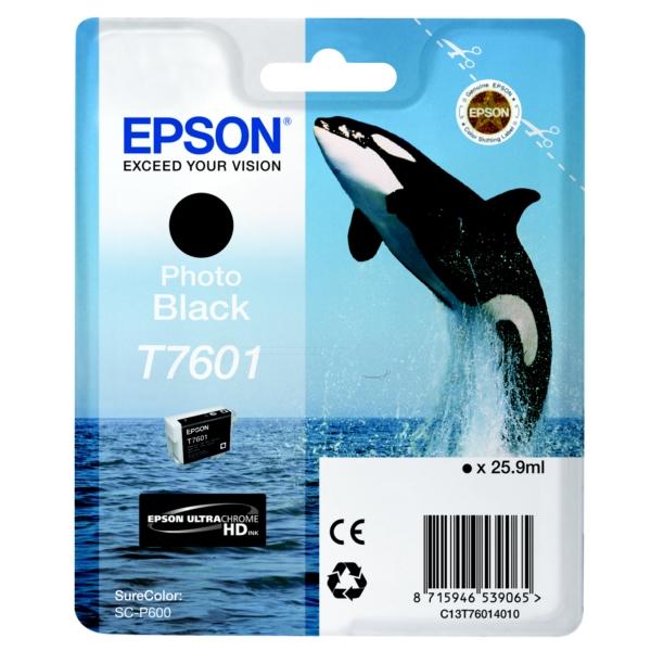 Epson C13T76014010 (T7601) Ink cartridge bright black, 26ml