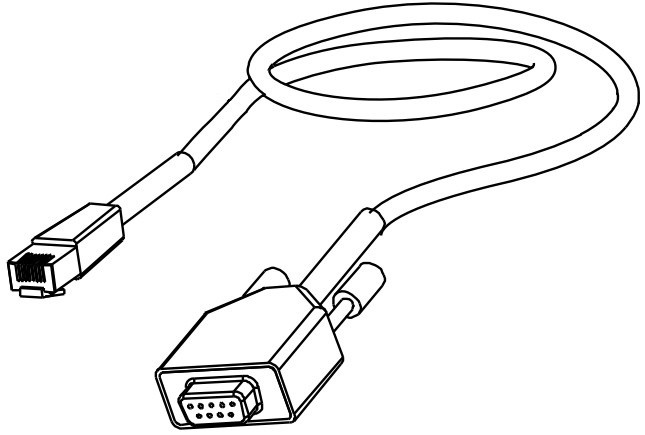 Datamax Oneil 502542 Rs232 Rj45 Serial Cable