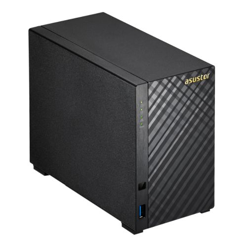 ASUSTOR AS1002T V2 2-Bay NAS Enclosure (No Drives), Dual Core 1.6GHz CPU, 512MB, USB3, GB LAN, Diamo