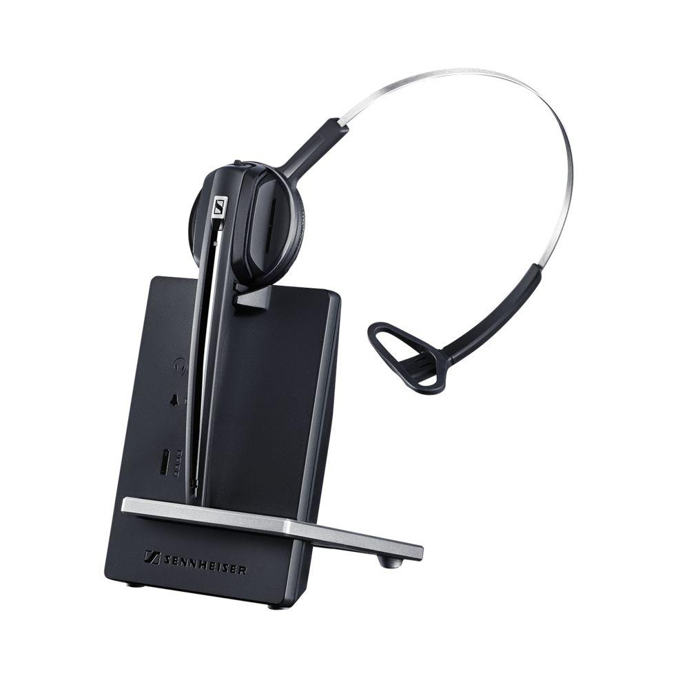 Sennheiser D 10 PHONE Monaural Ear-hook,Head-band Black headset