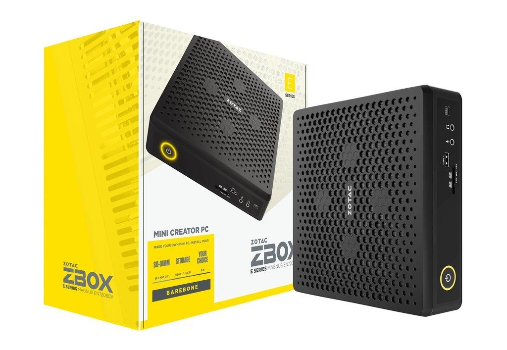 Zotac ZBOX MAGNUS EN72080V 9th gen Intel Core i7-9750H 8 GB DDR4-SDRAM 240 GB SSD Black Mini PC ZBOX-EN52060V-BE/240GB SSD 8GB RAM