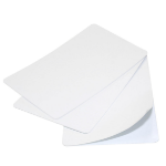 Digital ID Blank White 480 Micron CR79 Under-Sized Adhesive Cards - Pack of 100