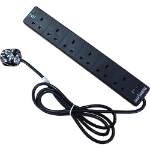 Cablenet PB 6W5MB 6AC outlet(s) 5m Black surge protector