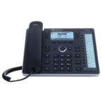 Audiocodes 440HD IP phone Black Wired handset LCD 6 lines