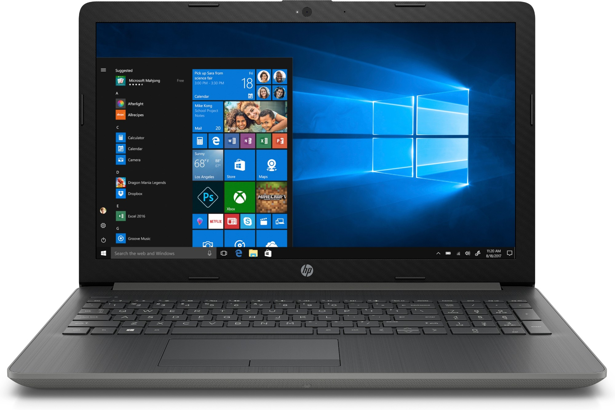 "HP 15-db0021na Grey,Silver Notebook 39.6 cm (15.6"") 1920 x 1080 pixels 2.6 GHz AMD A A6-9225"