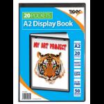 Tiger A2 Presentation Display Book Black 20 Pocket