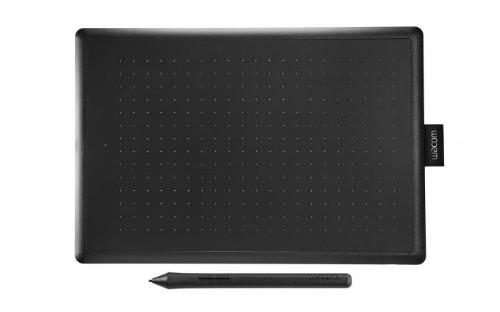 Wacom One by Medium graphic tablet Black, Red 2540 lpi 216 x 135 mm USB