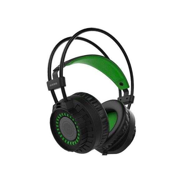 Verico Element G G330 USB & 3.5mm Green LED Headset