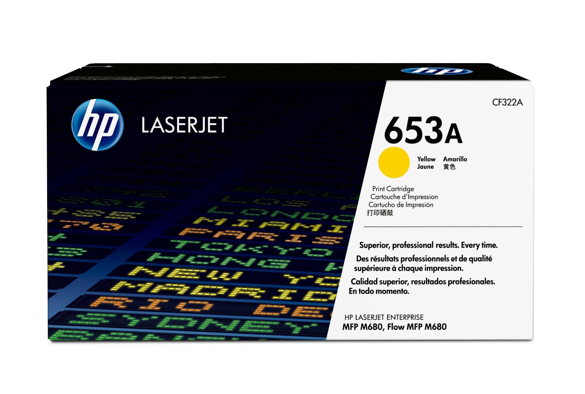 HP 653A Original Amarillo 1 pieza(s)