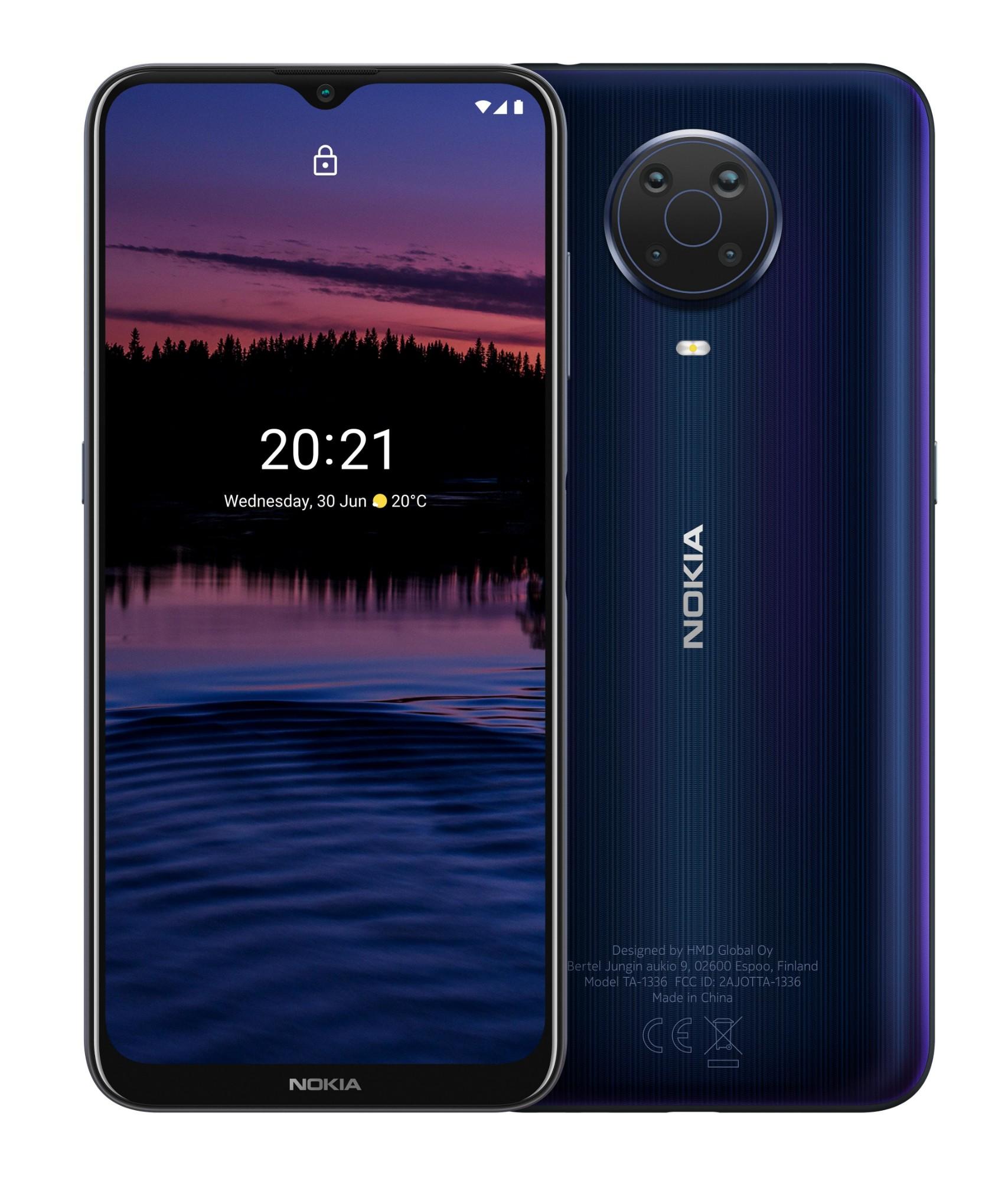 "Nokia G20 16.5 cm (6.5"") Dual SIM Android 11 USB Type-C 4 GB 64 GB 5050 mAh Blue"