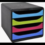 Exacompta 3101928D file storage box Plastic Black, Blue, Green, Pink, Violet