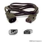 Belkin PRO Series Computer-Style AC Power Extension Cable 1.5m Black power cable