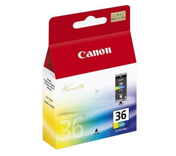 Canon CLI-36 Col Original Cian, Magenta, Amarillo 1 pieza(s)