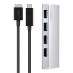 Belkin F4U088tt interface hub USB 3.0 (3.1 Gen 1) Type-C 5000 Mbit/s Silver