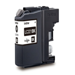 Brother LC-221BK Ink cartridge black, 260 pages, 7ml