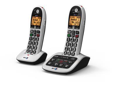 British Telecom BT4600 Advanced Nuisance Call Blocker - Twin Black,White Caller ID