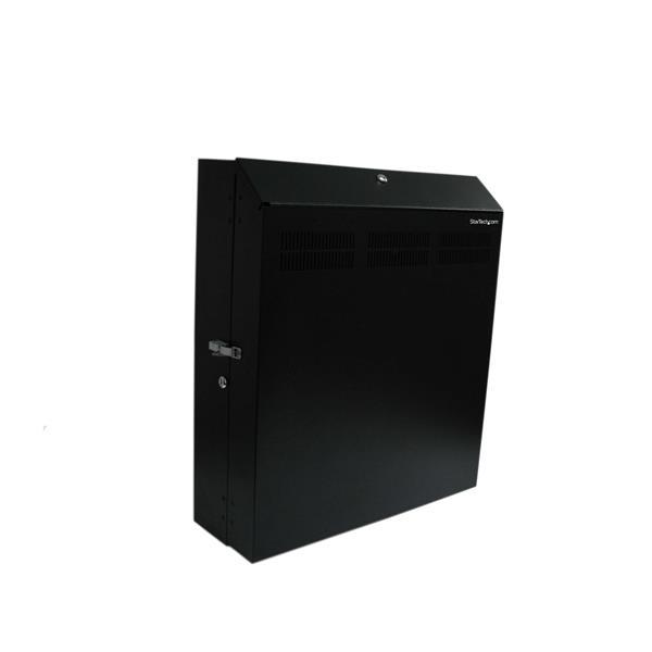 StarTech.com 4U 19in Secure Horizontal Wall Mountable Server Rack - 2 Fans Included RK419WALVSGB