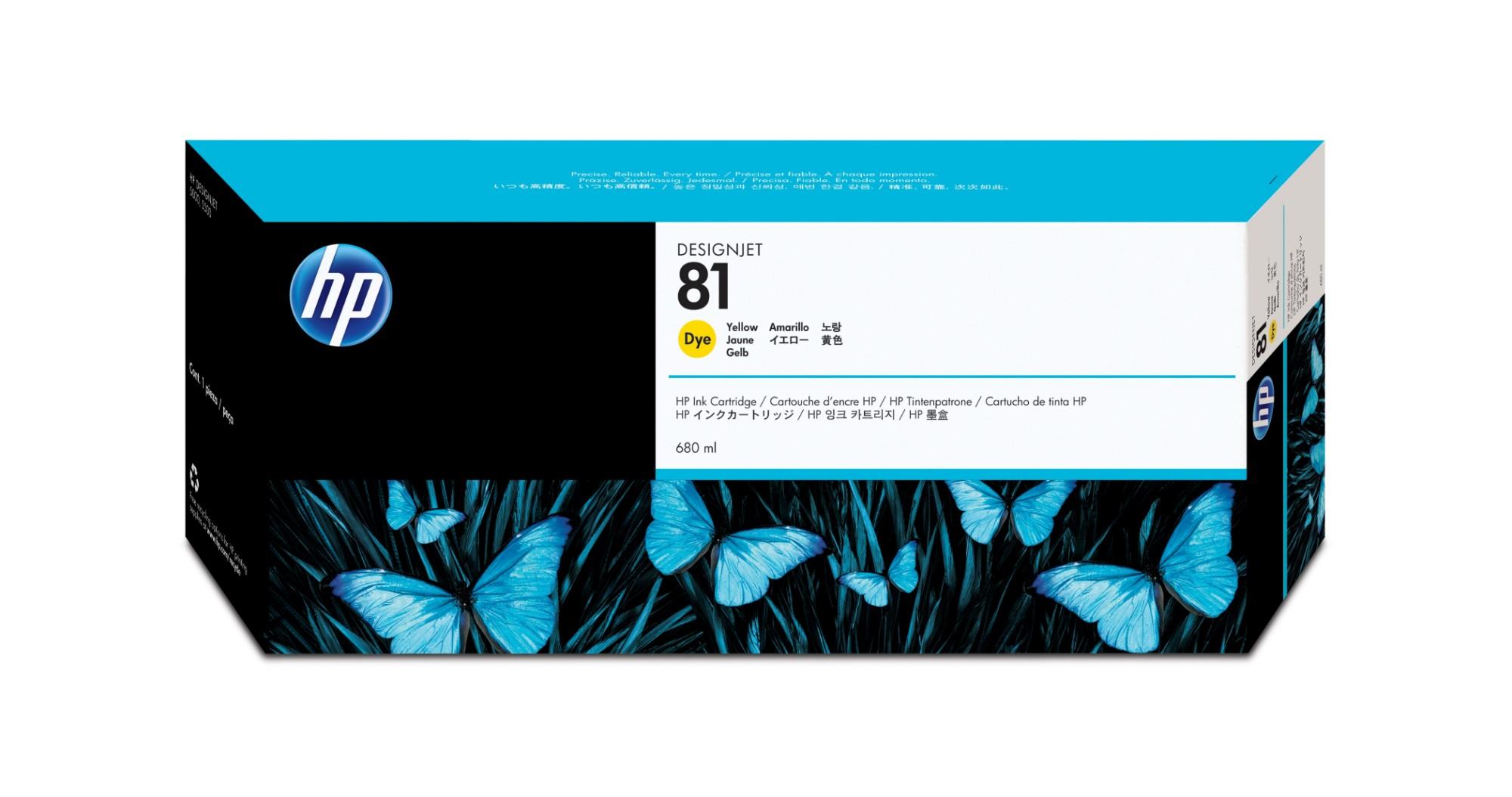 HP 81 Original Amarillo