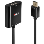 Lindy 38285 video cable adapter 0.1 m HDMI Type A (Standard) VGA (D-Sub) Black