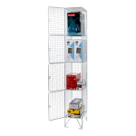Stewart Superior Wire Locker 4 Door DD