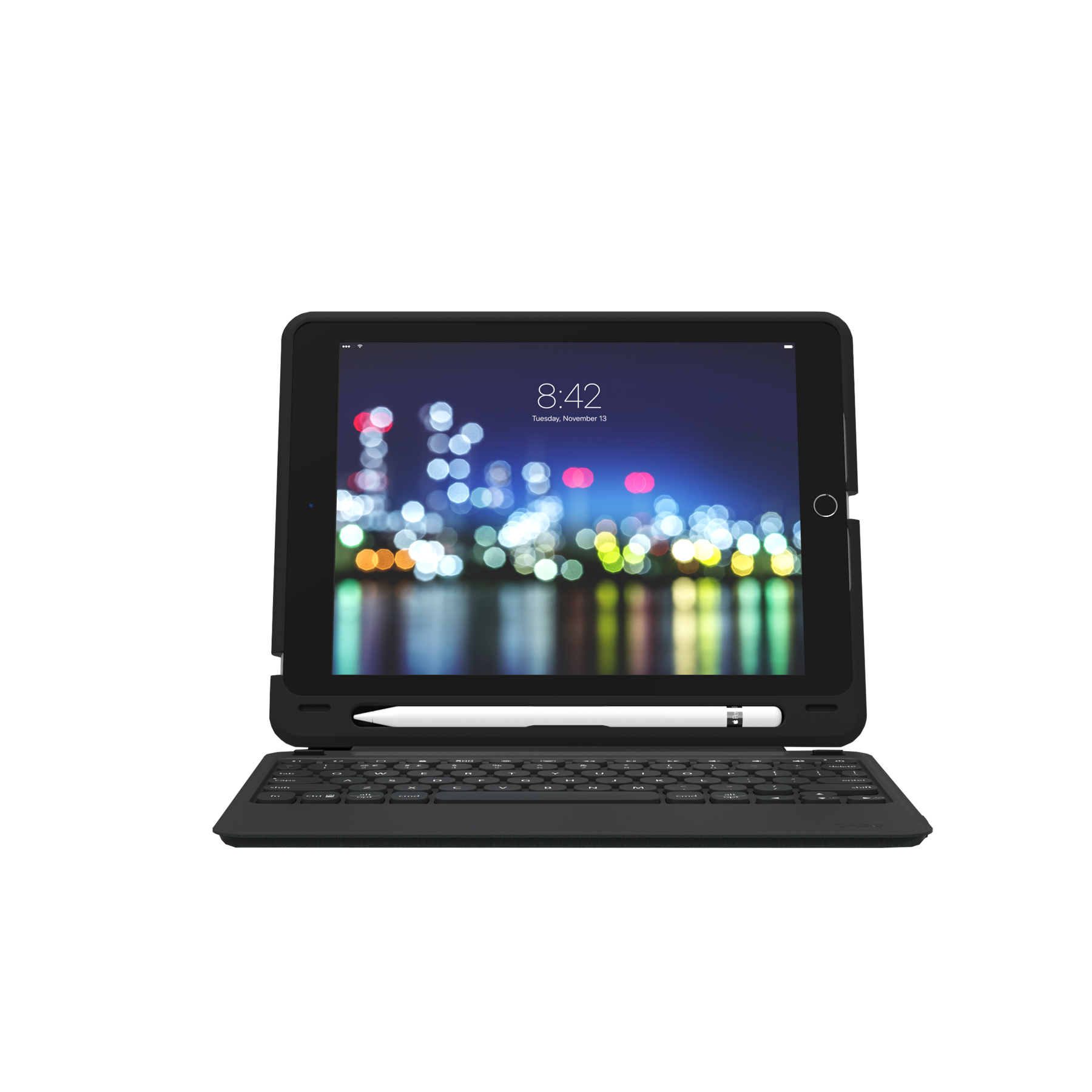 ZAGG Slim Book Go toetsenbord voor mobiel apparaat Brits Engels Zwart Bluetooth