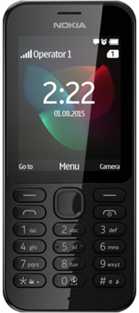 "Nokia 222 2.4"" 79g Black Feature phone"