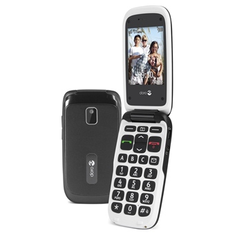 Doro PhoneEasy 612 103g Black,White Senior phone