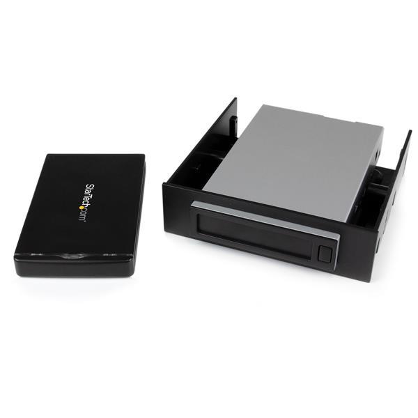 """StarTech.com Removable 2.5"""" SATA HDD Enclosure/Backup System/Mobile Rack for 3.5/5.25"""" Bay"""
